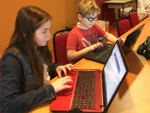 Kids coding at the Curzon Clevedon