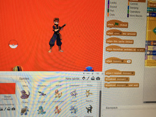 Pokemon game in Scratch