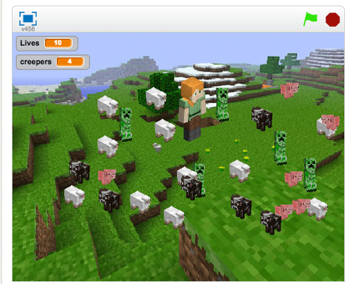 Make a Minecraft game in Scratch