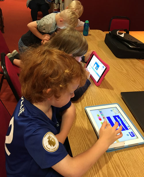Learning to code with ScratchJr