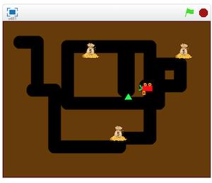 Arcade game Digger in Scratch
