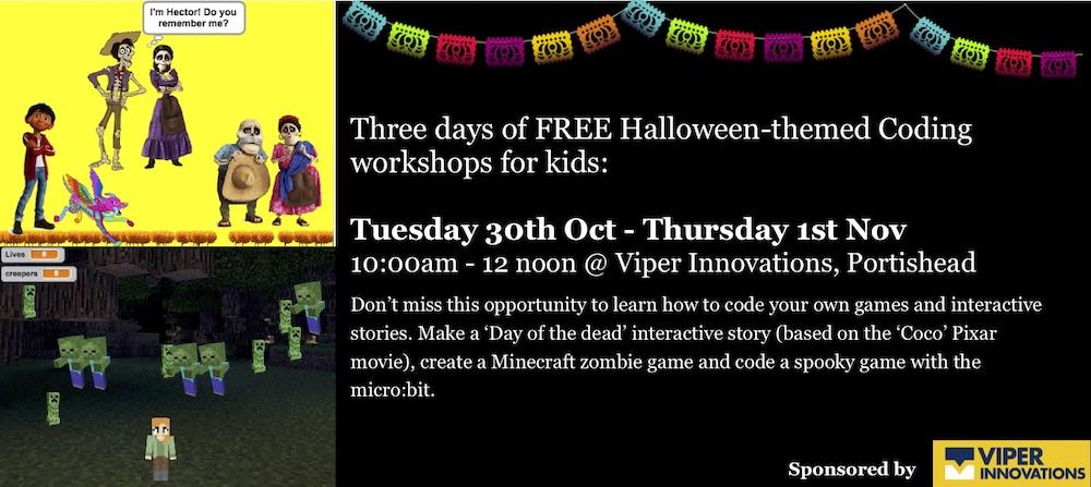 Autumn half term workshops