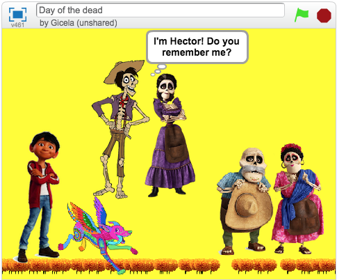 Day of the dead Scratch project