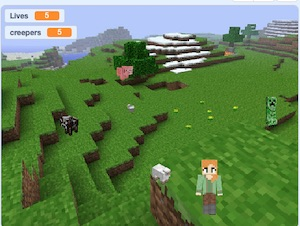 Minecraft in Scratch