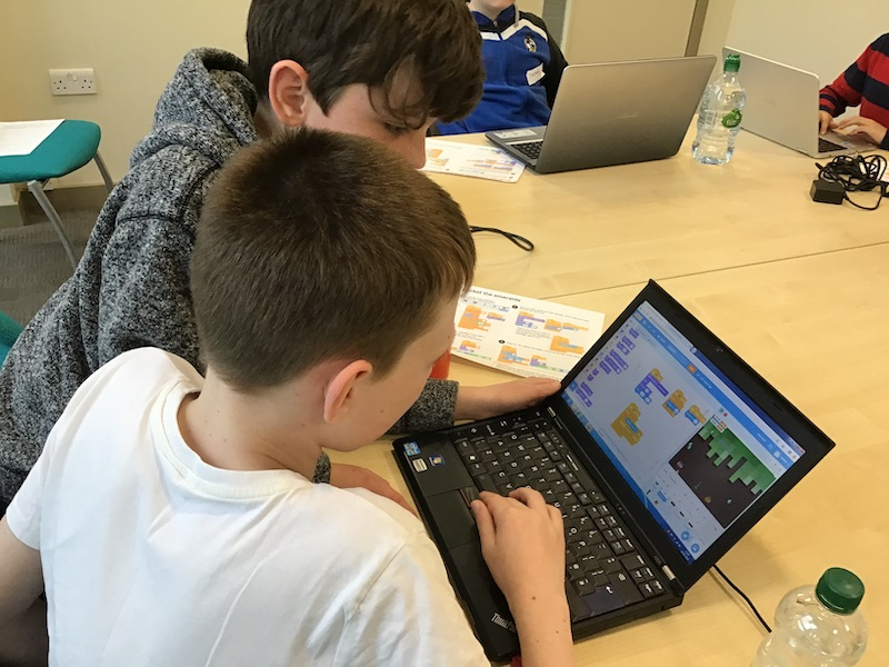 Coding at Portishead library
