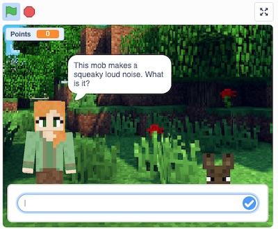 Minecraft Quiz in Scratch