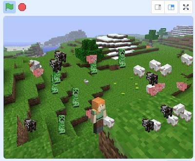 Minecraft game in Scratch